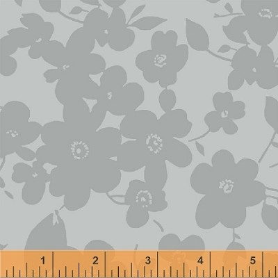 "Modern 108"" Quilt Backing 39035-7 Gray Floral by Windham"