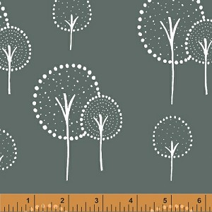 Glimma Canvas 35376C-2 Slate Kulla by Lotta Jansdotter for Windham