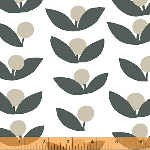 Glimma Canvas 35380C-2 Slate Tove by Lotta Jansdotter for Windham