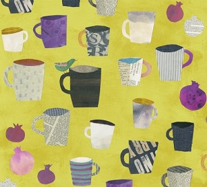 Collage 36524-3 Olive Painted Cups by Carrie Bloomston for Windham