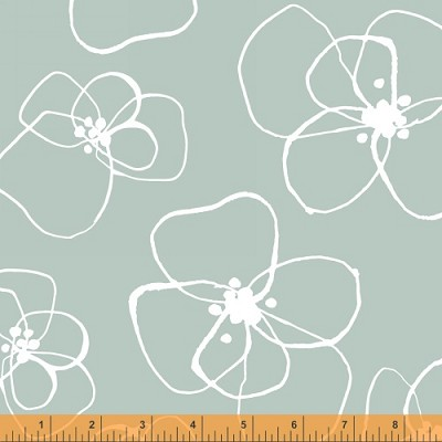 Mormor 37116-4 Mint Blomster by Lotta Jansdotter for Windham