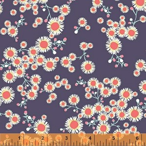 Garden Party Tango 38894-2 Navy Daisies by Windham