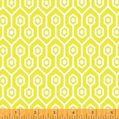 Garden Party Tango 38898-6 Yellow Geometric by Windham