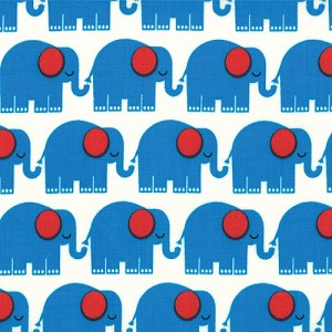 Bungle Jungle 39502-15 Blue Elephants by Tim & Beck for Moda