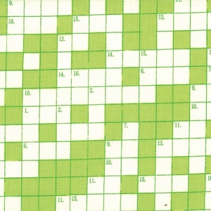 Bungle Jungle 39503-16 Lime Crossword by Tim & Beck for Moda