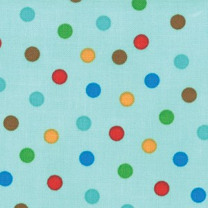 Bungle Jungle 39505-12 Aqua Bungle Dot by Tim & Beck for Moda