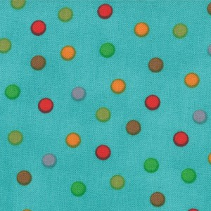 Bungle Jungle 39505-13 Turquoise Bungle Dot by Tim & Beck for Moda