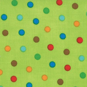 Bungle Jungle 39505-16 Lime Bungle Dot by Tim & Beck for Moda