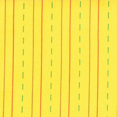 Bungle Jungle 39507-17 Yellow Dashed Stationary by Tim & Beck for Moda