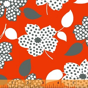 Mimosa 39980-1 Cherry Polka Dot Flower by Windham