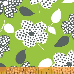 Mimosa 39980-3 Lime Polka Dot Flower by Windham