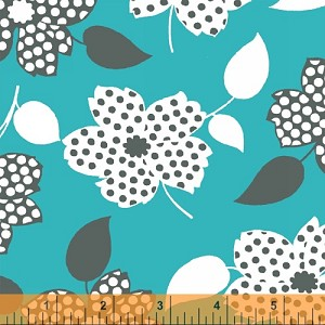 Mimosa 39980-4 Aqua Polka Dot Flower by Windham