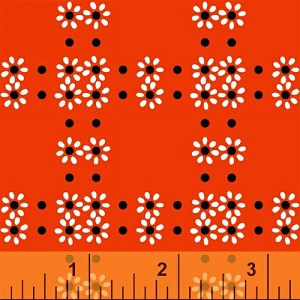 Mimosa 39985-1 Cherry Daisy Grid by Windham