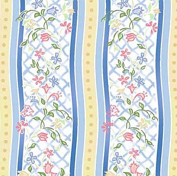 Annabelle 3AB-1 Blue Floral Stripe by In The Beginning EOB