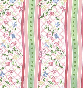 Annabelle 3AB-2 Pink Floral Stripe by In The Beginning EOB