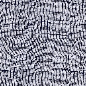 Indigo Blues 4173 Wavy Checks by Henry Glass