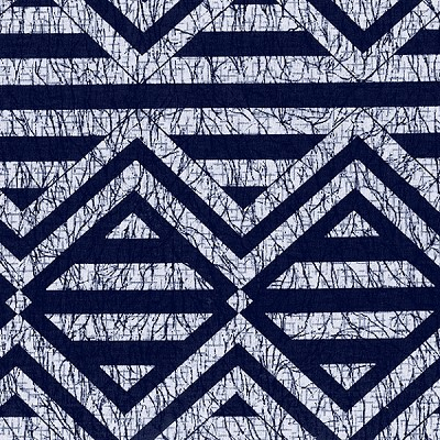 Indigo Blues 4247 Large Geometric by Henry Glass