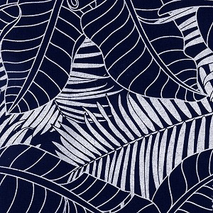 Indigo Blues 4334 Large Fronds and Leaves by Henry Glass