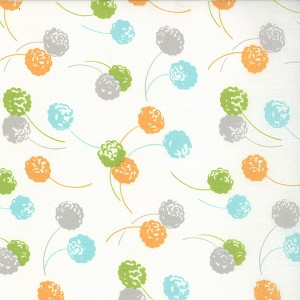 Happy Go Lucky 55062-19 White Hop by Bonnie & Camille for Moda