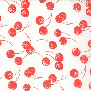 Happy Go Lucky 55062-21 White Red Hop by Bonnie & Camille for Moda