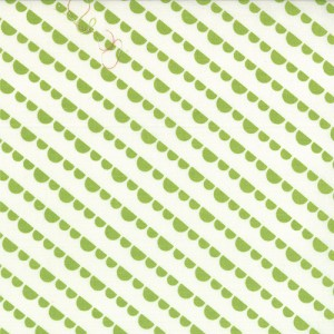 Happy Go Lucky 55064-23 White Lime Jump by Bonnie & Camille for Moda
