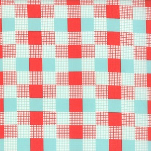 Happy Go Lucky 55067-11 Red Aqua Check by Bonnie & Camille for Moda