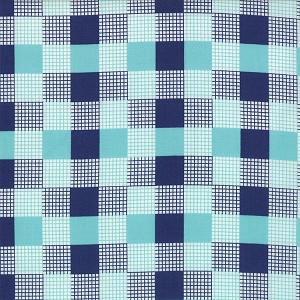Happy Go Lucky 55067-17 Aqua Navy Check by Bonnie & Camille for Moda