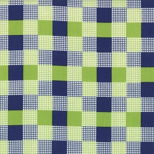 Happy Go Lucky 55067-23 Navy Lime Check by Bonnie & Camille for Moda