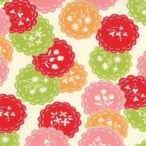 Scrumptious 55076-28 Orange Lime Dainty by Bonnie & Camille for Moda