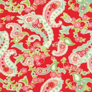 Scrumptious 55077-11 Red Paisley by Bonnie & Camille for Moda EOB