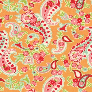 Scrumptious 55077-15 Orange Paisley by Bonnie & Camille for Moda