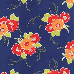 Miss Kate 55090-17 Navy Blossom by Bonnie & Camille for Moda