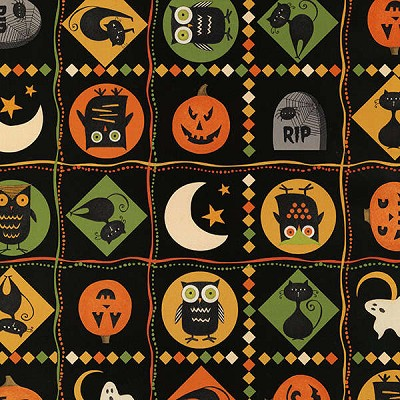Scaredy Cats 67509-987 Multi Patches by Debbie Mumm for Wilmington