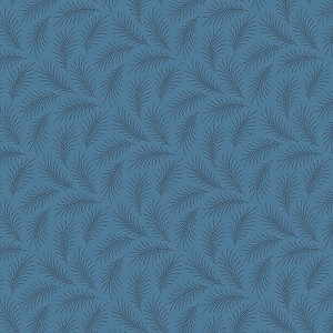 Downton Abbey 7332-B1 Blue Downton Feather by Andover
