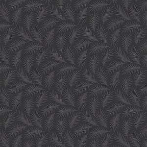 Downton Abbey 7332-K1 Black Downton Feather by Andover