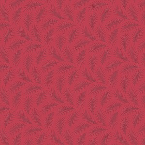 Downton Abbey 7332-R Red Downton Feather by Andover