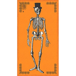 Chillingsworth 7442-O Orange Skeleton Panel by Andover