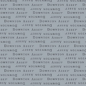 Downton Abbey 7617-C Grey Text by Andover