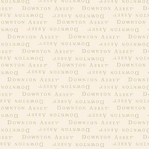 Downton Abbey 7617-L Cream Text by Andover