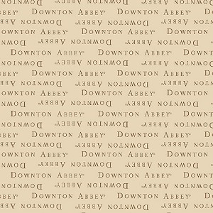 Downton Abbey 7617-N Beige Text by Andover