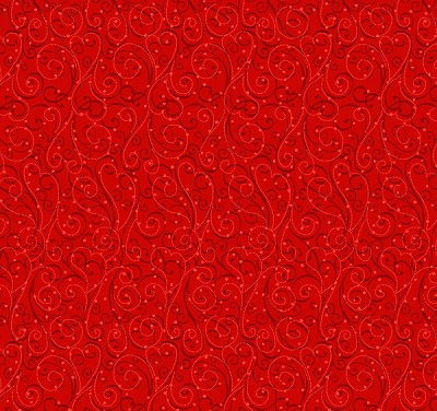 Holiday Cheer 9687-88 Red Swirls by Henry Glass