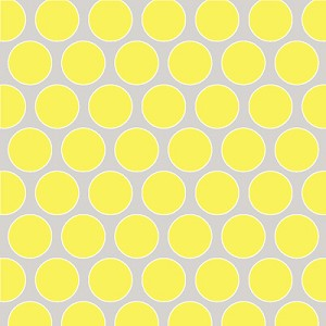 Sweet Harmony 9597-94 Yellow Gray Dot by Henry Glass