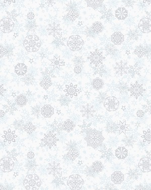 Holiday Cheer 9685-09 White Snowflake by Henry Glass