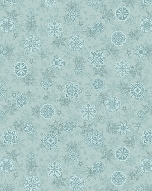Holiday Cheer 9685-11 Blue Snowflake by Henry Glass