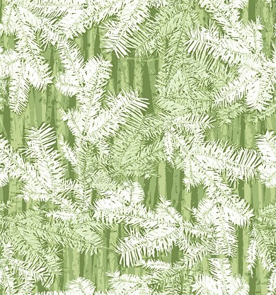 Holiday Cheer 9690-66 Green Branches by Henry Glass