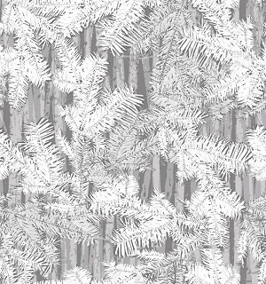 Holiday Cheer 9690-99 Gray Branches by Henry Glass