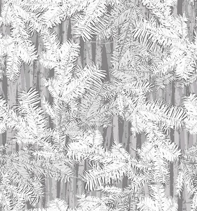Holiday Cheer 9690-99 Gray Branches by Henry Glass EOB