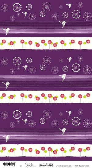 Avalon BF-04 Grape Take Flight by Birch Fabrics