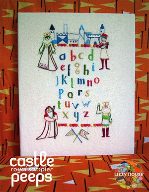 Castle Peeps Royal Sampler Pattern by Lizzy House