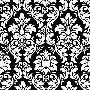 Dandy Damask CX3095-Black by Michael Miller